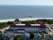 St-Mary-by-the-Sea retreat, viewed from Cape May Light