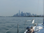 NYC skyline off Cheshire's port bow