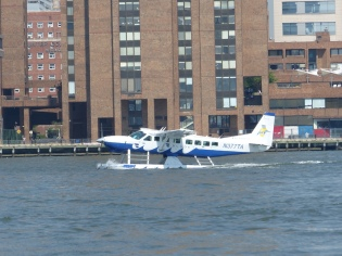 seaplane on the East River, NYC