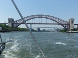 Hell Gate Bridge off our stern